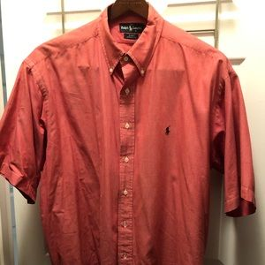 Red short sleeve button up